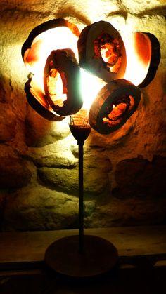 Lampe métal et bois de la boutique Valheureuse sur A little Market -