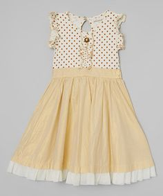 Golden & Vanilla Cozette Party Dress - Infant, Toddler & Girls #zulily *so pretty