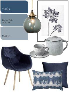 33 New Ideas For Bedroom Curtains Ideas Colour Paint Colors Decor Room, Living Room Decor, Bedroom Decor, Bedroom Curtains, Home Decor, Denim Drift Living Room, Denim Drift Bedroom, Interior Exterior, Interior Design