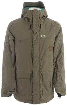 Oakley Westend Snowboard Jacket Worn Olive Mens
