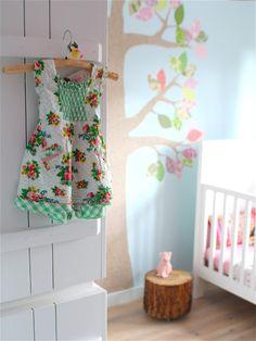 Lieve #meisjeskamer #behangboom #inke | Evie's room