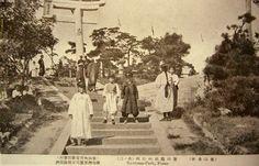 1927년 부산 용두산 신사.