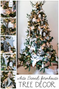 White Scandi Farmhouse Christmas Tree Decor | The Happy Housie | This year I wanted a simple white Christmas tree using the ornaments we already had! In this blog post, I'm sharing my ornaments and Christmas tree style. #christmasdecor #scandi Green Christmas, Christmas Colors, All Things Christmas, Simple Christmas, Homemade Christmas, Christmas Ideas, White Ornaments, Diy Christmas Ornaments, Country Christmas Decorations