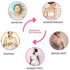 fb00e2a0a7 MEINAIER Self Adhesive Bra For Backless DressReusable Silicone Push Up  Invisible Bras With Drawstring For WomenFor Dress Wedding Party Beige D      Visit the ...