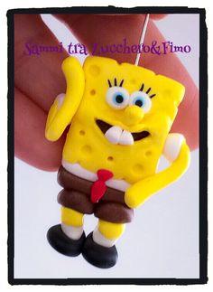 SpongeBob fimo polymer clay handmade