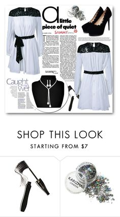 """Black and White"" by belmina-v ❤ liked on Polyvore featuring Lancôme"