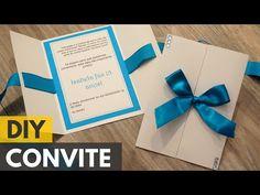 Convite de 15 anos simples |DIY - Faça você mesmo - YouTube
