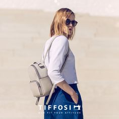 Minimal Look, Jeans, Fashion Backpack, Backpacks, Blue, Men, Woman, Gin, Backpack