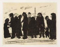 Shapes & Sizes  Date  1967-8  Medium  Lithograph on paper  L.S. Lowry (1887-1976) - Lithographs