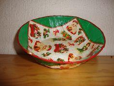 60  plato navideño verde