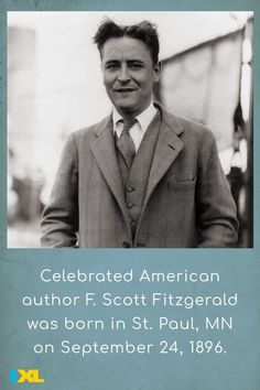 Born #OnThisDay, F. Scott Fitzgerald penned The Great Gatsby, an American novel widely considered to be among the greatest ever written. #TBT Ixl Math, Learning Sites, Scott Fitzgerald, Throwback Thursday, Change The World, Gatsby, Social Studies, Language Arts, Fun Facts