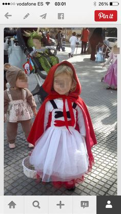 disfraz caperucita roja para nia