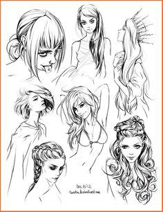 hair style sketches by Tsvetka.deviantart.com on @DeviantArt