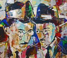 Obra de Xico Fran inspirada em Fernando Pessoa