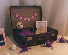 valise vintage annonces dentelle - Urne Valise Mariage