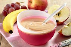 Craquante compote de pommes et bananes sur lit de Speculoos.  Blog www.cuisinedebebe...