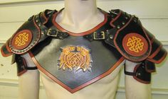 Custom Leather Armor Mantle with Shoulders