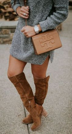 Stylish winter outfits ideas with boots and jeans 01