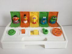 Vintage 80's Playskool Poppin' Pals Sesame Street by KnickKnackPatyWack on Etsy https://www.etsy.com/listing/523336871/vintage-80s-playskool-poppin-pals-sesame