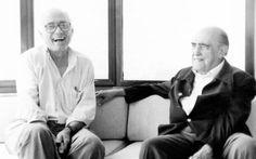 O arquiteto João Filgueiras Lima, o Lelé, ao lado do amigo Oscar Niemeyer