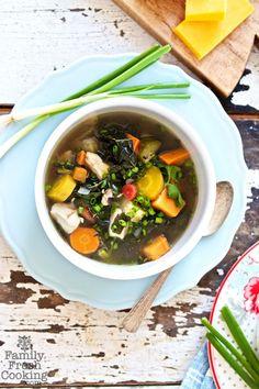 Chicken Recipe: Rainbow Vegetable Chicken Soup