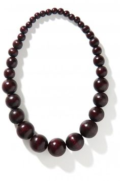 Vergroot - Bordeaux bolletjesketting
