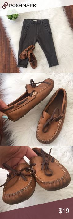 Zara 💯 leather moccasins loafers for a boy! 💯 softest leather! Super comfortable and breathable shoes because of the leather quality! My boy got so many compliments but they're too small already 😔 The most versatile brown! Will match any outfit! The pants and the shirt are also Zara. All available in my closet! Bundle and I'll send you a discounted offer 👌🏻💰 Fast shipping 👍🏻🎁 Zara Shoes Moccasins