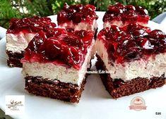 Meggyzselés, tejszínes-túrókrémes kocka Hungarian Desserts, Hungarian Recipes, Cake Cookies, Cupcake Cakes, Sweets Recipes, Cooking Recipes, Salty Snacks, Food Journal, Healthy Sweets