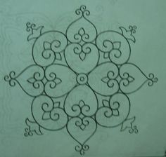 beautiful kolam pattern