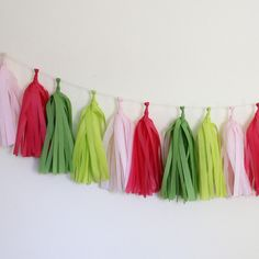 Preppy Tissue Paper Tassel Garland Kit