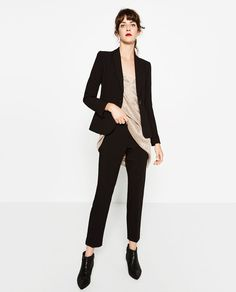 ZARA - WOMAN - RELAXED FIT CREPE TROUSERS £25.99