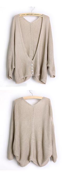 Loose Bat Sleeve Beige Sweater... so comfy!!
