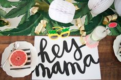 """This """"Mom's Rule"""" Mother's Day Brunch has tons of free downloads and ideas for you to make a very awesome and special party for the hot mamas in your life."""