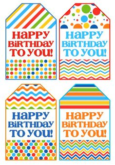 Birthday Gift Tags - Free Printable