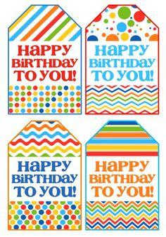 Birthday Gift Tags - Free Printable