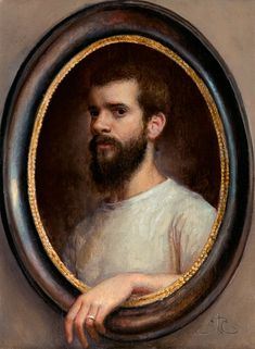 artistandstudio  Cesar Santos, Tiny Self-portrait (must love this - an artist with a sense of humor :)