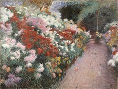 Chrysanthemums 1888 Denis Miller Bunker, American, 1861-1890