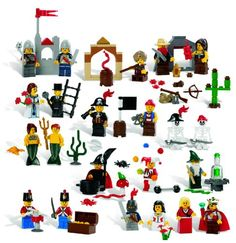 LEGO Education Fairytale and Historic Minifigures Set 779349 Pieces. 22 Different Figures) - Product Description:The LEGO Education 779349 fairytale and historic minifigure set includes elements to build 22 multicultural male and f Building For Kids, Building Toys, Step On A Lego, Lego Gifts, Lego Batman Movie, 21st Century Skills, Buy Lego, Preschool Games, Preschool Colors