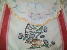 vintage embroidered towels - Yahoo Image Search Results