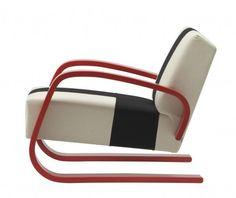 No. 400 Lounge chair designed by Alvar Aalto. Contact Scandinavian Design.