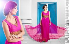 Party Wear Gowns Online : Latest Indian Gown Design of 2020 Gown Dress Online, Evening Dresses Online, Gowns Online, Evening Gowns, Evening Party, Anarkali, Lehenga, Stylish Gown, Net Gowns