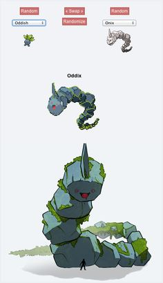 this cute yet creepy Pokemon fusion is called Oddix!
