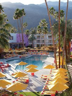 Hip but not hipster, the Saguaro Palm Springs - stayed here on my first trip with my bf Kevin. Amazing beds and great pool Palm Springs Style, Palm Springs California, California Dreamin', Palm Springs Hotels, Coachella Valley, Costa, Palm Desert, Las Vegas, Paradis