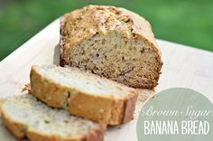 Brown Sugar Banana Bread - A simple recipe the yields a deliciously moist banana bread. Save this recipe for when you have overripe bananas!