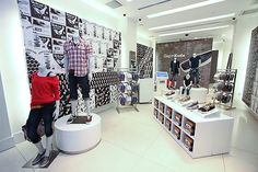 Glossy Round Mannequin Stand - Gap Keds store concept by Reluctant Hero New York