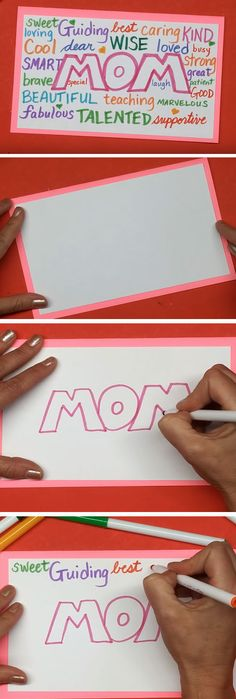 Doodle Style | Easy Mothers Day Cards for Kids to Make