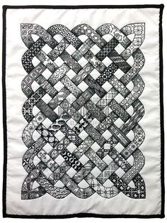 Zentangle-inspired quilt (from Perfectly4med)