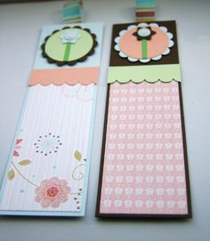 Floral Bookmarks Summer Breeze Set of Two £3.00