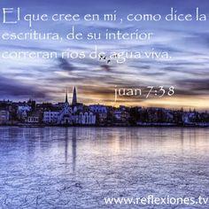 """REFLEXIONES PARA VOS: """"DE SU INTERIOR CORRERÁN RÍOS DE AGUA VIVA"""" http://reflexionesparavos.blogspot.com/2015/02/rios-de-agua-viva.html?spref=tw #40DiasDeAyuno #ReflexionesParaVos #BuenDomingo"""