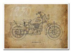 INDIAN WARRIOR TT 1950 Based on my Original Handmade by drawspots, $42.00